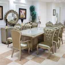 Dining table - 8 chairs - table - buffet - mirror - 6158
