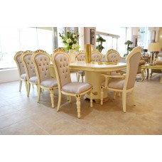 Dining table - 10 chairs - table - buffet - mirror - 6187