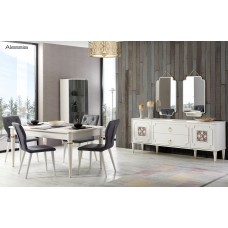 Dining table - 6 chairs - table - consul - mirror - Alessa