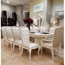 Dining table - 10 chairs - buffet 6209