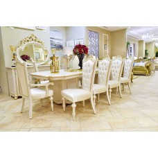 Dining table - 10 chairs - buffet 6211