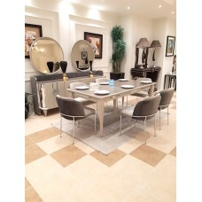 Dining table - 6 chairs - table - buffet - mirror - INGI