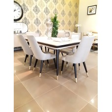 Dining table - 6 chairs - 9 pieces - Comodo