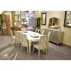 Dining table - 10 chairs - 12 pieces - 8,24 D
