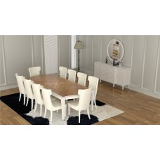 Dining table - 10 chairs - 12 pieces - 1145D