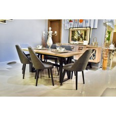 Dining table - 6 chairs - 8 pieces - Favori / bada