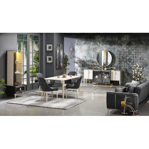 Modern dining room - 6 chairs - 8 pieces - Avon