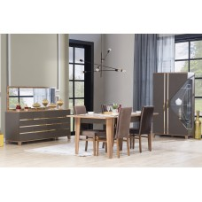 Dining table - 8 chairs - 10 pieces - Seylan