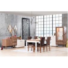 Dining table - 8 chairs - 10 pieces - Benetti
