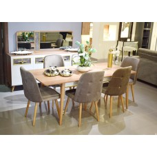 Dinning table - 6 chairs - 8 pieces - KARYA