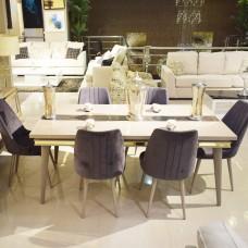 NEHIR travel - table 6 chairs + mirrors