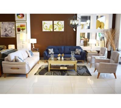 Modern sofa - 4 pieces - Neon beige chair