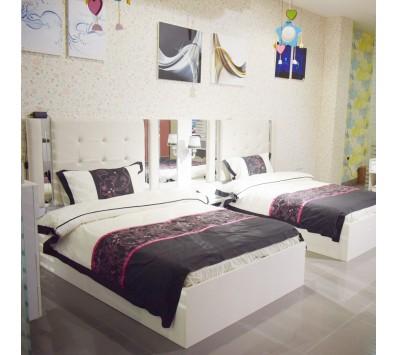 غرفة نوم مفرد مودرن - 020D 2 سرير - 6 قطع